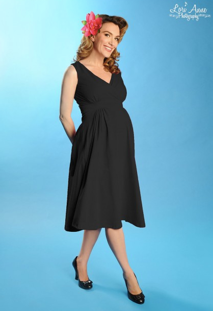 Pinup_Couture_-_Preggers_Scrumptious_Sleeveless_Dress_in_Olive___Pinup_Girl_Clothing